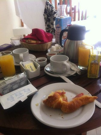 Playa Palms Beach Hotel:                   Breakfast at balcony