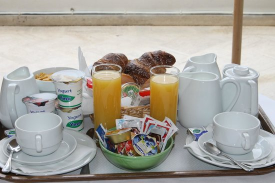 Villa Rosa:                                     our breakfast was delivered every morning