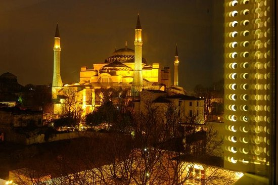 Hagia Sophia Hotel Istanbul Old City:                   evening view from my room
