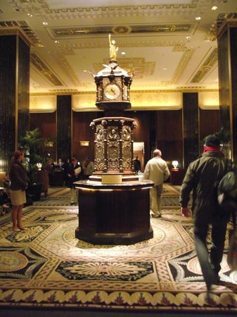 The Towers of the Waldorf Astoria:                   Clock in reception