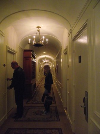The Towers of the Waldorf Astoria:                   Hall way to suite