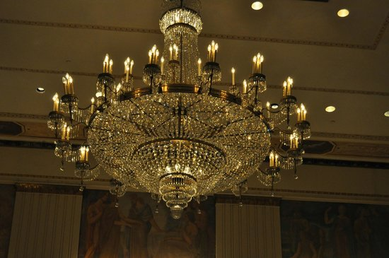 The Towers of the Waldorf Astoria:                   chandelier in hotel