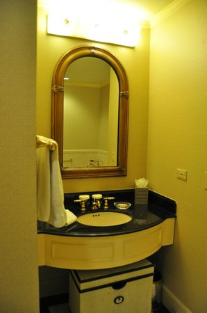The Towers of the Waldorf Astoria:                   Bathroon sink