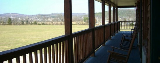Eagles Nest Lodge:                   Porch relaxation