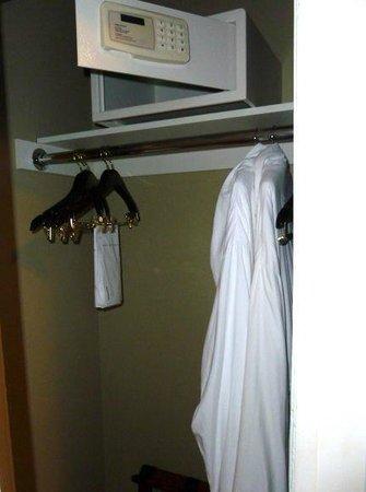 Hotel Abri:                                     In room safe and closet Urban Suite