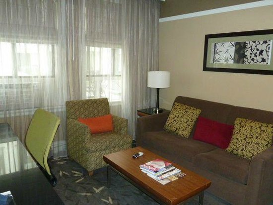Hotel Abri:                                     Sitting room with pull out couch - Urban Suite
