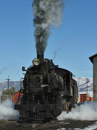 Nevada Northern Railway Museum:                                     I just love a LIVE steam loco spewing smoke and steam.