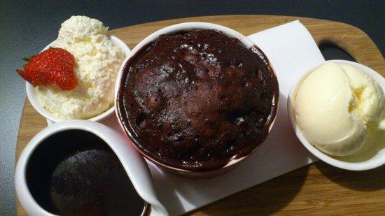Three Little Ducks:                                     Hot chocolate pudding
