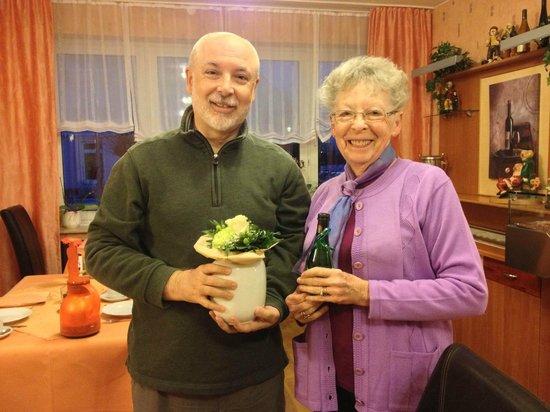 Haus Margareta:                   birthday bouquet and sparkling wine