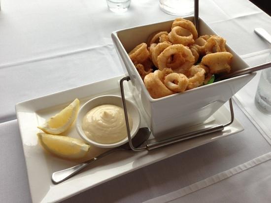 Verandah Restaurant:                                     cumin and cayenne calamari