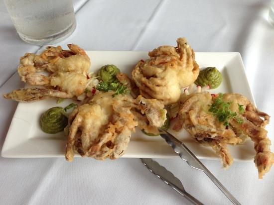 Verandah Restaurant:                                     soft shell crab