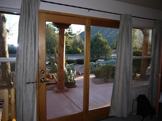 Adobe Hacienda Bed & Breakfast:                   View from Anasazi Room