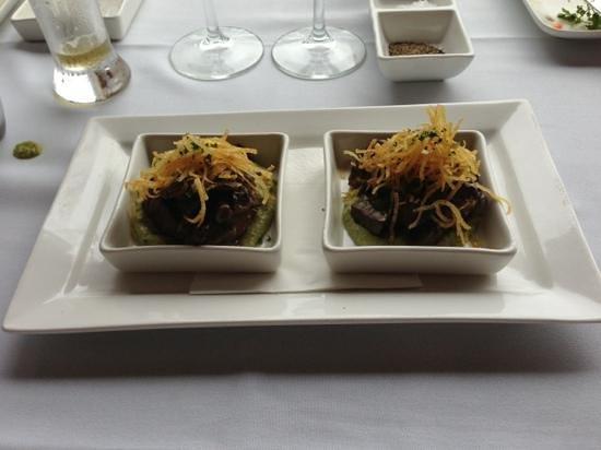 Verandah Restaurant:                                     thyme marinated beef fillet