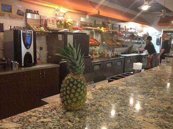 Julio's Natural Foods Restaurant :                   Cashier/Order area.