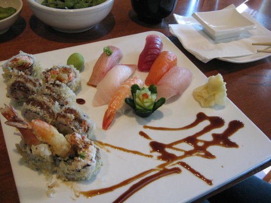 En sushi & robata grill:                                     Certainly a cut above the standard!