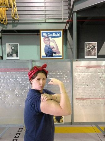 Fantasy of Flight:                                     My wife, posing as Rosie the Riveter