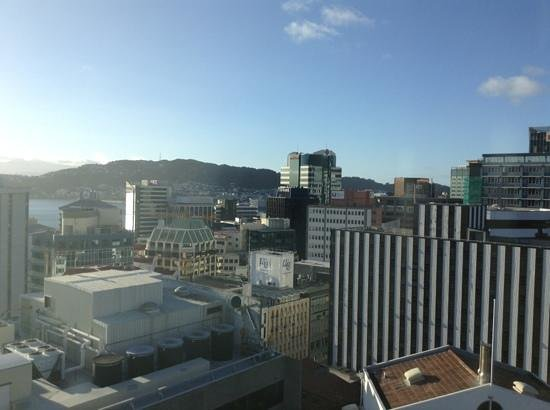 Bolton Hotel Wellington:                                     View from my 16th storey suite