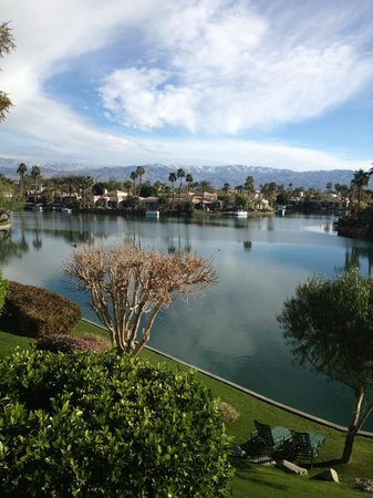 The Chateau at Lake La Quinta:                   View from room