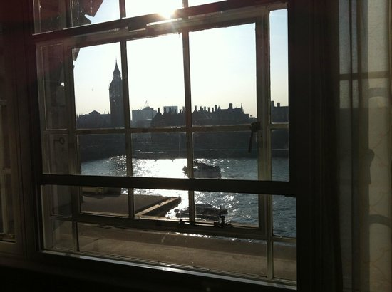 London Marriott Hotel County Hall:                                     View from living room of westminster suite