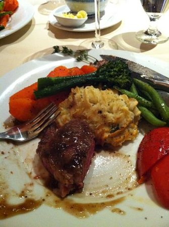 Butlers at the Mansion:                   Black Angus rib eye steak dinner