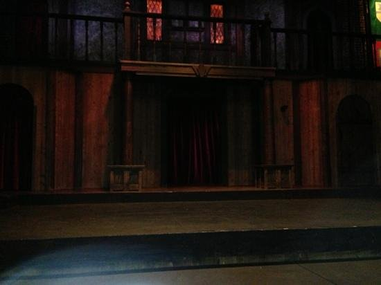 The Shakespeare Tavern Playhouse:                                     the stage from my front row table