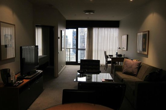 Adina Apartment Hotel Melbourne:                   Living Room Rm 124