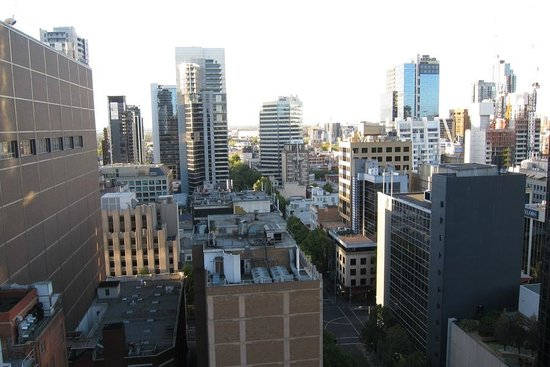 Adina Apartment Hotel Melbourne:                   View from tiny Balcony