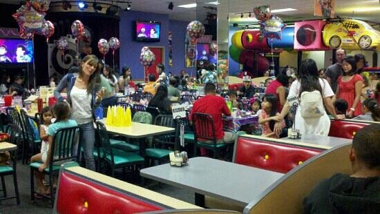 Chuck E. Cheese's:                                     Clean and well maintained