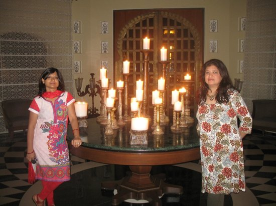 The Oberoi Udaivilas:                   candle room