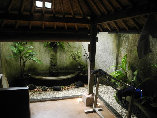 Swasti Eco Cottages:                   outdoor bathroom