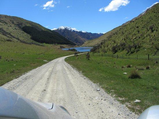 Moke Lake:                   The road into Lake Moke