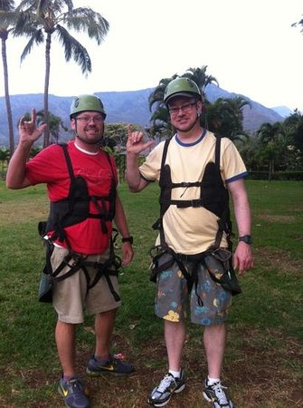 Flyin Hawaiian Zipline :                                     so much fun