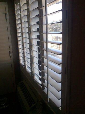هوليداي إن دوبلين - بليسانتون:                                                       No curtains, plastic slats = bright sleepl