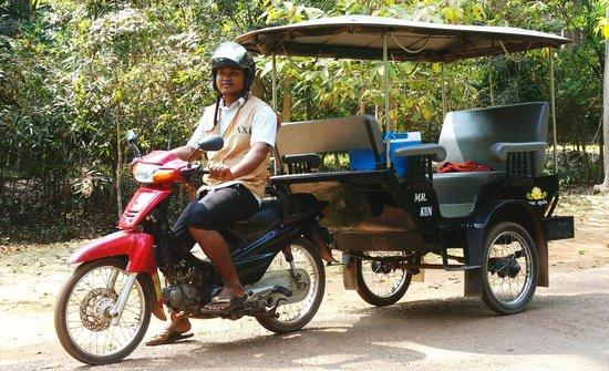 Angkor Pearl Hotel:                   Mr Kun, Tuktuk owner/driver