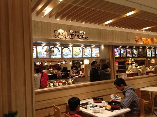 Shirasu Wholesaler to Biccho Terrace Mall Shonan :                                     お店はフードコートの中