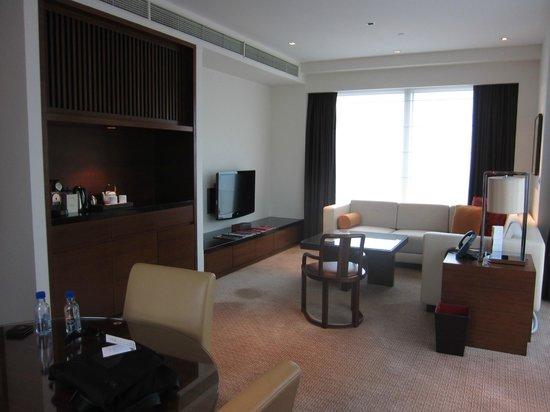 Grand Hyatt Macau:                   クラブルームのリビング