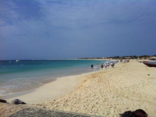 Hotel Morabeza:                                     Beach the Morabeza fronts (taken from the pier)
