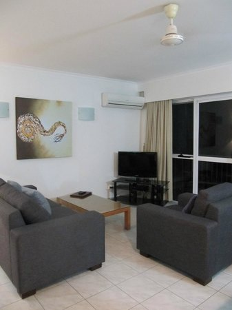 Agincourt Beachfront Apartments:                   Lounge area with flat screen tv