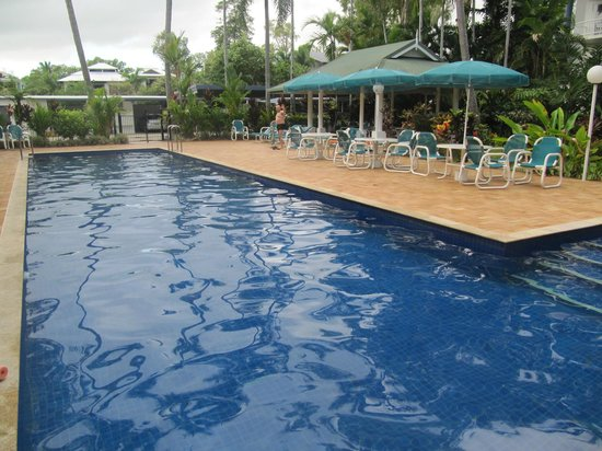 Agincourt Beachfront Apartments :                   Pool and BBQ area