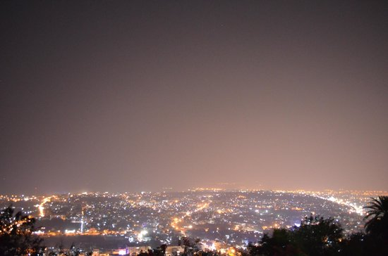 Night aerial view of Vizag city from the Kailasa Giri top