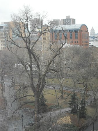 Washington Square Hotel:                   View of Washington Square Park from our room