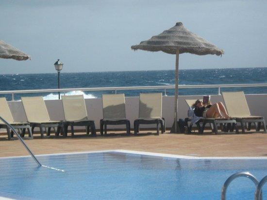 Castillo Beach:                                     Pool and sea