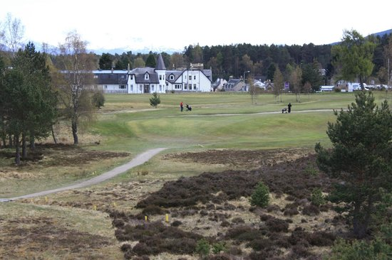 Carrbridge Golf Club:                                                       Heading for home