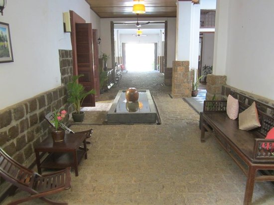 Kambuja Inn:                   the main corridor facing the front of the inn