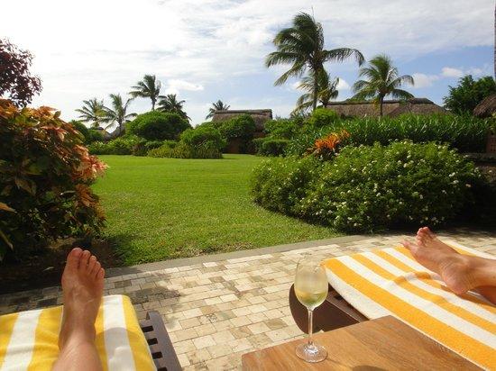 The Oberoi, Mauritius:                   Unsere Terrasse