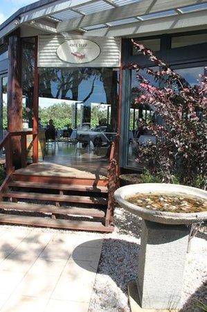 Knee Deep Winery Restaurant:                   Open area dining overlooks the vinyard.