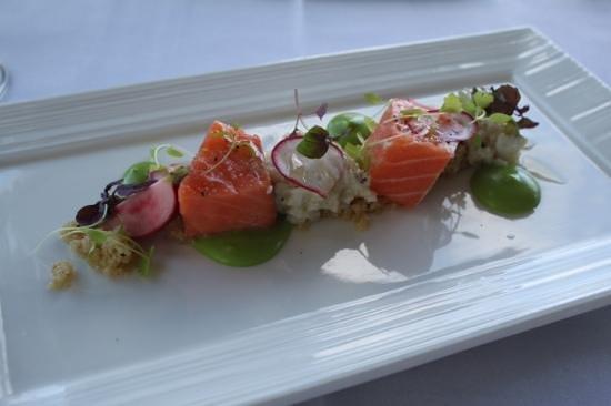 Knee Deep Winery Restaurant:                   Fresh Tasmanian Salmon