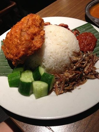 nasi lemak with fried chicken - Picture of Mamak, Sydney - Tripadvisor