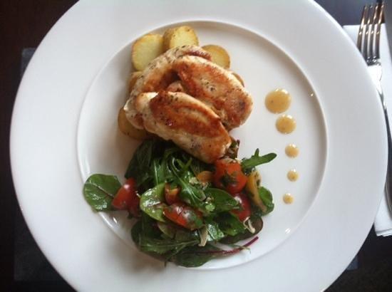 Carlton Manor Hotel:                   Chicken dish at The Carlton Manoir
