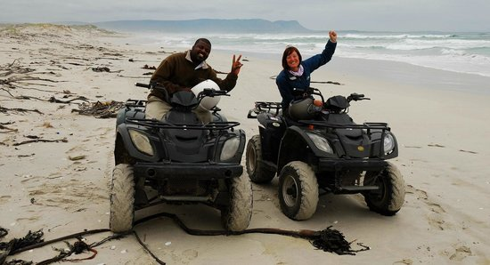 MOSAIC Lagoon Lodge:                   Quad biking with Octavia